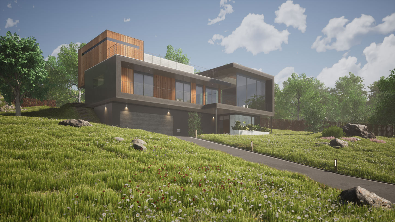 Modern House Design Visualization